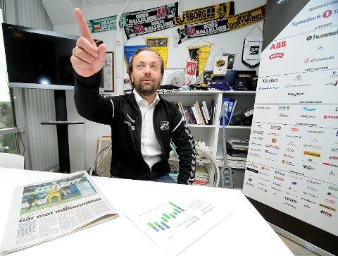 BEKREFTER: Einar Håndlykken forteller at klubben styrer mot minus i 2018. Publikum og spillerinvesteringer er de største årsakene. foto: ole martin møllerstad