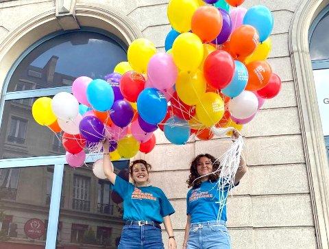 FRA PARIS: Det var en fritidsklubb i Paris som mistet en av ballongene sine.