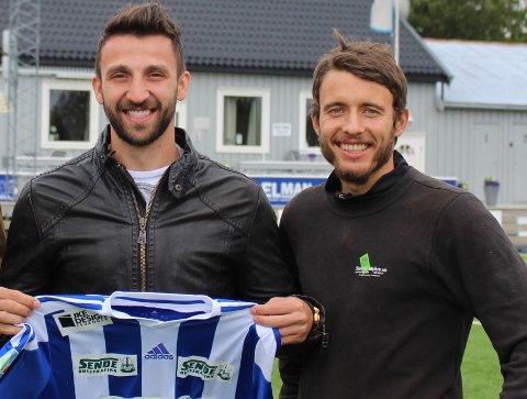 NYE: Damian Aldas (til venstre) er nå klar for FK Tønsberg, mens Adrian Krysian tidligere har signert for Flint.