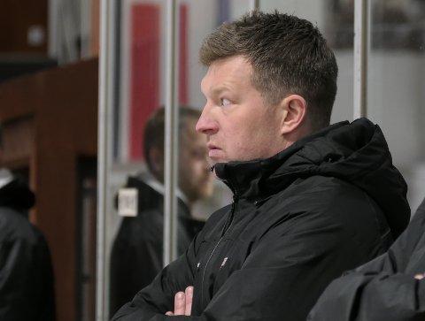 PRESSET: Trener Andreas Toft i Tønsberg Vikings har fortsatt tro på prosjektet, selv etter fem av seks tap så langt i sesongen.