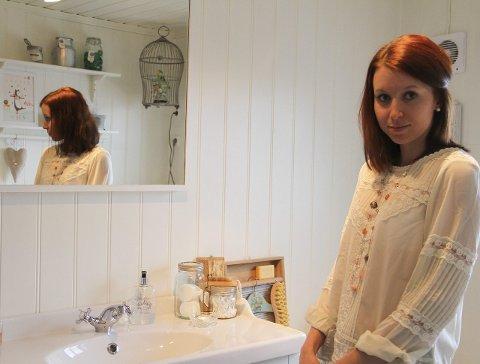 Blogg: Eit av romma Silje Marie er mest fornøgd med, er badet. Ho meiner det skal visa at ein har barn i hus, men at det godt kan visast på ein fin måte. ALLE FOTO: Sigrun Haugsdal Reknes