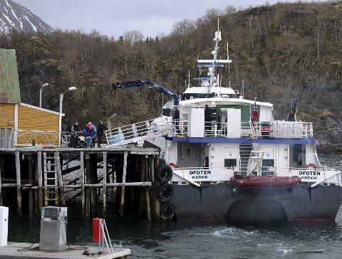 Hva Skjer? Det er usikkert hva som vil skje med hurtigbåtkaia på Skutvik når båten skifter anløpssted. Foto: Øyvind A, Olsen