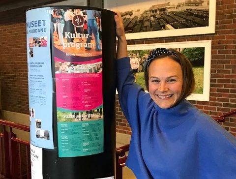 STOLT: Martine Bortheim viser fram haustens Lev Vel-program. Det er eit program ho er stolt av å presentere.