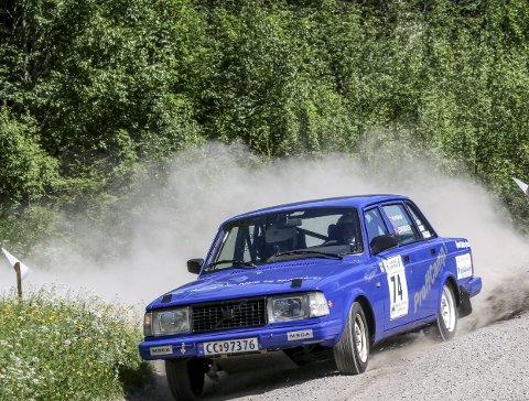 God sommerdebut: I deres første løp på grus ble Mats Nygård og Johan Svendsen nummer tre i klassen for utrimmede og originale Volvoer.