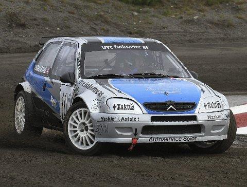 Hjemmefavoritt: Espen Isaksætre fra arrangørklubben KNA Solør Motorsport leder sin NM-klasse. Foto: Privat