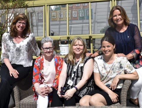 – SOLVETT VIKTIG: F.v. Maria Munsters, Eva Beate Galgum, Kari Anne Fevang, Anne Rui og Berit Jevnaker.