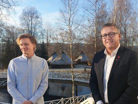 MJØSBRUA: Nestleder Ruine Støstad i Innlandet Ap melder om bred oppslutning om partiets tidligere standpunkt. Her sammen med Anders Brandbrand, også kandidat på partiets stortingsvalgliste
