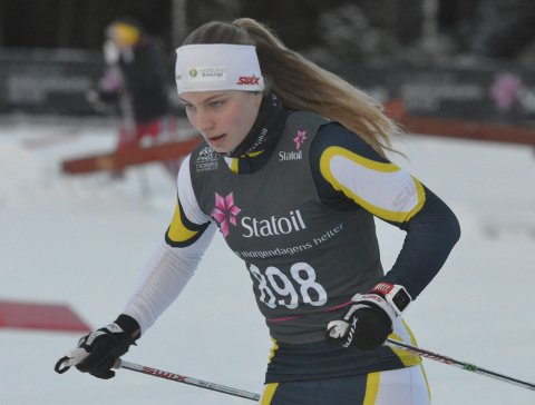 22. PLASS: Anna Grøntjernet følte at hun gikk med bare ett gir på den klassiske 15 kilometeren i junior-NM fredag. Arkivfoto.