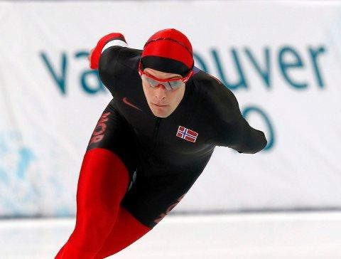 VANCOUVER, CANADA 20100213. Sverre Haugli i aksjon under 5000 m for menn i OL i Vancouver 2010 i Canada lørdag. Haugli kom på en tiendeplass. Foto: Lise Åserud / Scanpix