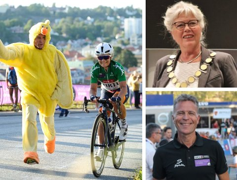 FOLKEFEST: Haldens ordfører Anne-Kari Holm gleder seg til en ny folkefest med Ladies Tour of Norway, der far og datter (Roy og Emilie) Moberg nok en gang spiller to av hovedrollene.