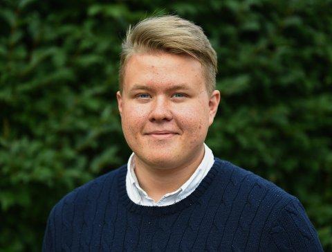 Mest Fornøyd: Studentleder Mathias Lauritzen