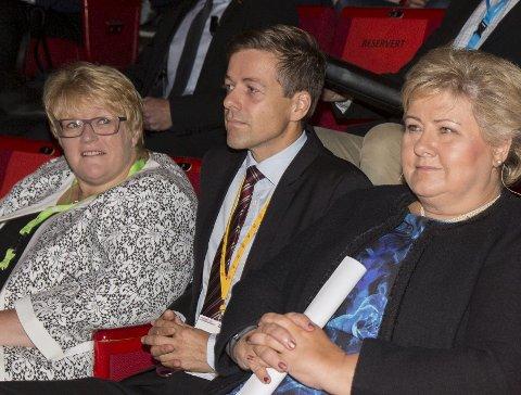 KRAV: Kutt i sykelønn er et krav til partilederne Siv Jensen, Erna Solberg, Knut Arild Hareide og Trine Skei Grande. FOTO: BERIT ROALD, NTB SCANPIX