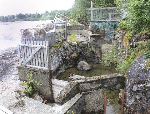 Ødelagt: Laksetrappa i Laksforsen er delvis i svært dårlig stand. Foto: Jon Steinar Linga