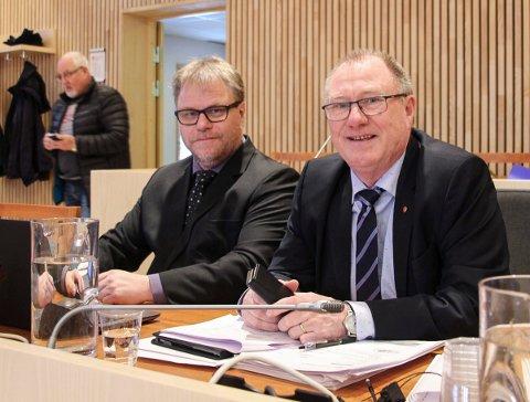 Rådmann Geir Berglund (t.v.) og ordfører Arnt Frode Jensen i Hålogaland lagmannsrett.