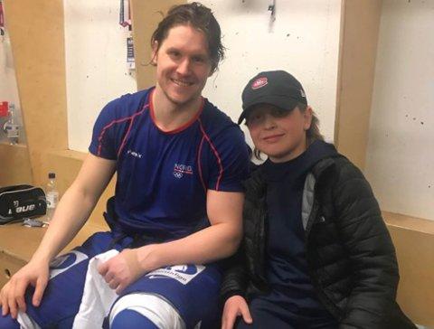 STØRST: Sivert Bangsund Pedersen sammen med en av Norges beste spillere, Alksander Bonsaksen, som spiller i den finske ligaen.