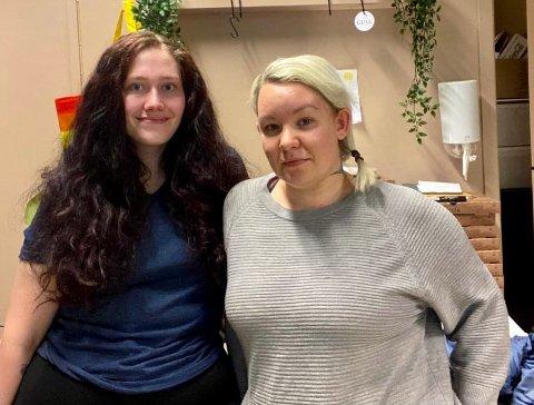JOBBER GODT SAMMEN: Emilie Søberg (t.v.) og Helene Arnesen var helt nye for hverandre da de overtok som daglige ledere for kafeen sammen.