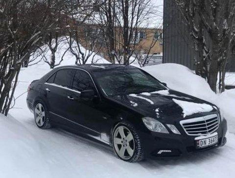 GJENFORENT: Igors Mercedes er tilbake hos sin eier, men ikke i like god stand.