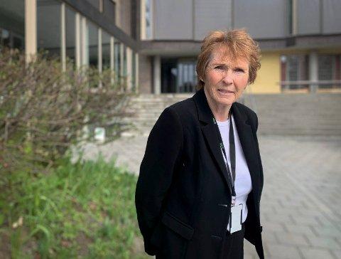 TOK TOGET: Ordfører i Kongsberg, Kari Anne Sand var smånervøs på togturen til Oslo nå nylig .