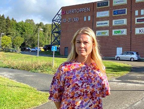 Sier nei til ny butikk: Aps Silje Kjellesvik Norheim sier de ikke ønsker en matbutikk til i Tranby-området, blant annet med tanke på at den kan ta kunder fra Liertoppen.