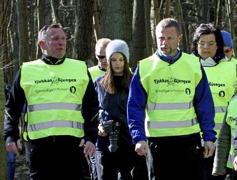 AKSEPT: Jan Ellefsen, Bent Høie og Anne Bramo på Alby lørdag.