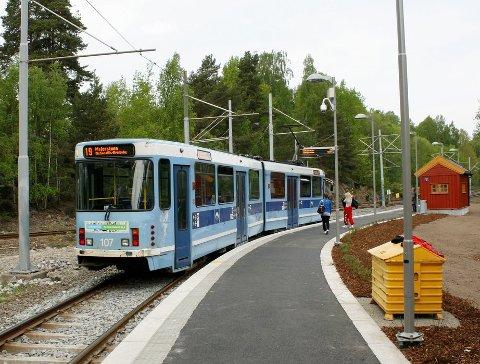 FORLENGES: Ekebergbanen kan bli forlenget fra Ljabru (bildet) til Hauketo, og kanskje videre til Gjrsrud-Stensrud.Arkivfoto