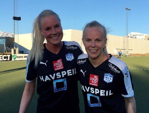 GLADE: Guro Bell Pedersen og Ida Sønvisen Suhr har begge en fortid i Fløya - og scoret mot gamleklubben søndag kveld.