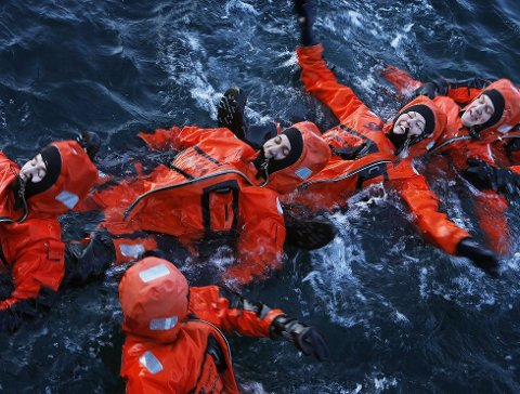 Samarbeid: UiN granskes for samarbeidet med Bodin maritime fagskole. Bildet er fra et sikkerhetskurs.