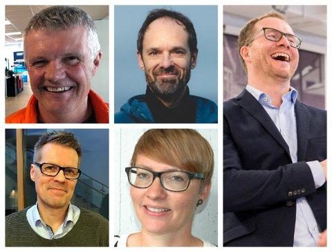 KJØP OG SALG: Tore Rismo, Jan Gunnar Winther, Andreas Østenrød, Nils Solstad, Silje Gaupseth.