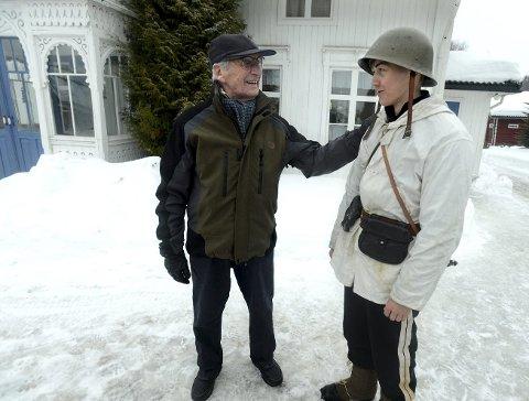 FREDRIK OG FREDRIK: Under filmopptakene i fjor fikk Fredrik Seeberg møte Arthur Hakalahti Eilertsen, som spiller Fredrik i filmen.