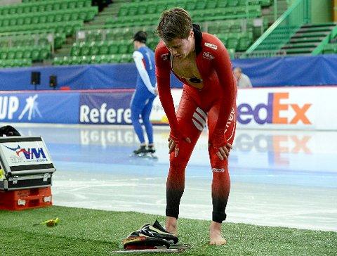 OL FORBLIR EN DRØM: Det har vært mye stang ut for Ole Bjørnsmoen Næss denne sesongen. Nå innser han selv at OL ryker.