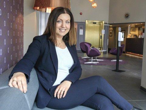 POSITIV INNSTILING: Direktør på Hotell Vic, Anja Eriksen.