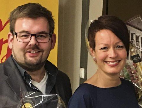 MISTET PLASSEN: Line Henriette Holten Hjemdal (t.h) med Lars-Kristian Holøs Pettersen.