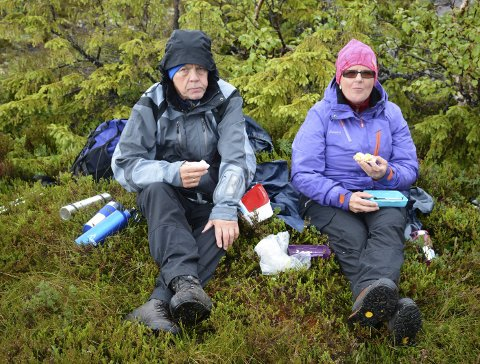 Flest veteraner: På den andre Til Topps turen var det flest veteraner. Dette er Lisbeth Nerdal sin 73 tur og mannen hennes Torfinn Nerdal sin 75 tur.