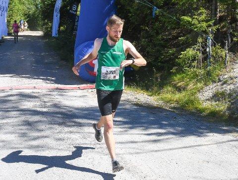 I stor framgang: Ola Matre løp inn til en sjetteplass i et sterkt felt i Krokskogen halvmaraton.
