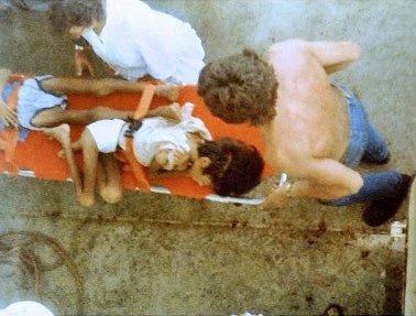 Flyktningene var avmagrede og sløve. Legene på sykehuset i Brunei har tidligere uttalt at vietnameserne ikke ville ha overlevd ett døgn til på havet. FOTO: TOM ARILD ANDREASSEN