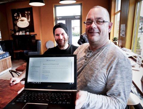 På luften: Kurt Kemi (t.h.) og Karl-Gunnar Nyborg er sentrale når supporterne til Ull/Kisa lanserer podkast som er ute nå. Foto: Øyvind MO Larsen