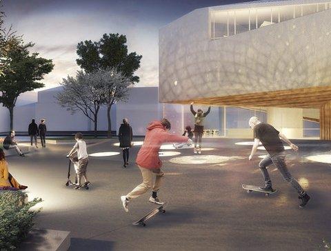 Samtidskunst: Slik ser arkitektene for seg nye Akershus kunstsenter.