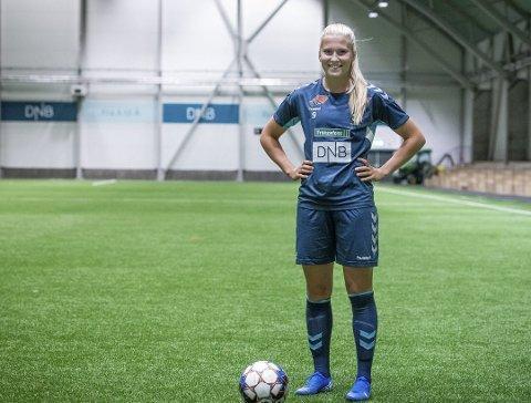 MÅLJEGER: 21 år gamle Emilie Nautnes omtales som en svært bevegelig og sterk spiss av trener Hege Riise.