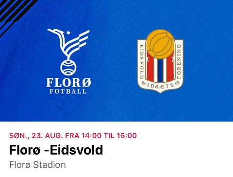 Men, er det ikke? Florø fant ikke bare emblemet til feil Eidsvoll klubb foran søndagens andredivisjonskamp. De tok også kontakt med Eidsvold IF i stedet for Eidsvold Turn i forkant av oppgjøret.