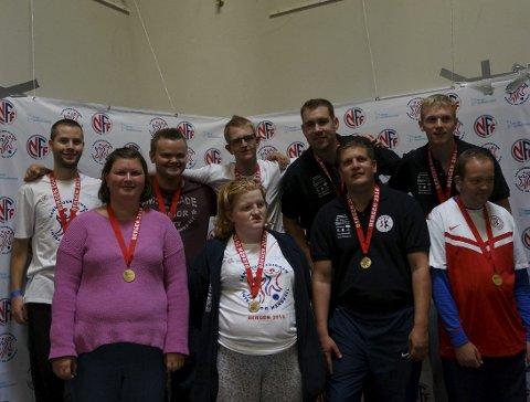Gode prestasjoner: Team Sande leverte godt lagspill under Landsturneringen i Bergen. Foto: Privat