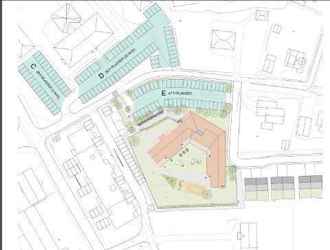 Her vil FagerStad Utvikling plassere den nye barnehagen i Mysen.