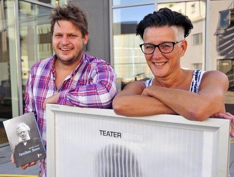 IBSEN TIL FOLKET: Henrik Berg Larsen og Hilde Fiskum satser på lett Ibsen-snakk i høst.