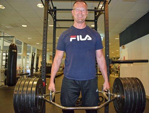 Tunge vekter: Nils Ovenstrøm kan endelig dra ut av huset for å trene igjen. Nå kan han dra tungt på vektene, og få noen skikkelige økter.FOTO: roar hushagen