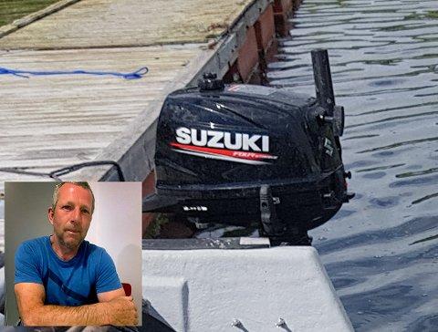 DUSØR: Kåre-Jan Rakkestad (56) utlover en dusør på 10 000 kroner for opplysninger som fører til tyvene blir tatt og at båtmotoren til 5000 kroner kommer til rette.