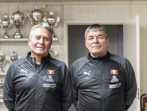 Trenere: Willy Nikolaisen (til venstre) og Geir Ove Sæther skal lede Sunndals herrelag i 2020-sesongen. Foto: Aura Avis
