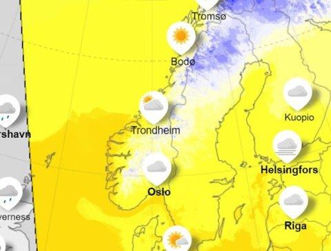 VARMT: Mildværet fortsetter og holder vinteren på avstand i Sør-Norge.