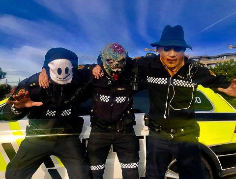 Politiet ønsker at alle får oppleve en positiv og hyggelig halloweenfeiring.