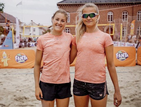 Frida Berntsen sammen med sin makker Birgitte Maaseide fra Stavanger. Privat foto