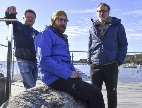Ny restaurant: Frode Hansen, Sven Voelzke og Calle Børresen har nå sendt inn søknad om gjennomføring av restaurantplanene på Hagefjordbrygga. Arkivfoto