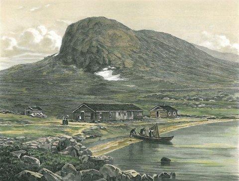 Raudfjordsheim: Turisthytta som lå nær foten av Bitihorn var i drift fra 1869 til 1898, da det kom veg til Bygdin.